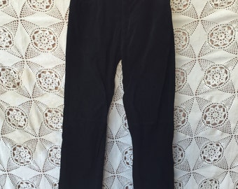 Black Suede Pants by Outer Edge size 5