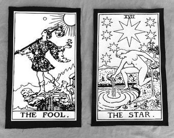 Custom Tarot Card Back Patch vinyl and canvas print (card of your choice!)