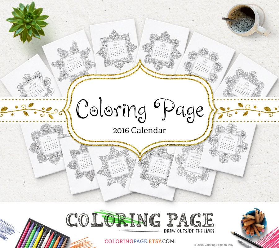 coloring calendars sector pages - photo#13