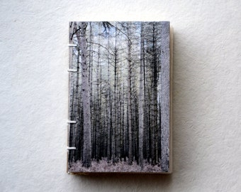 Hand Bound Notebook, Eco Friendly Sketchbook, Nature Inspired Book, Coptic Stitch Binding with Handmade Paper, England Travel Photography
