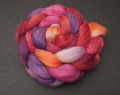 PRE-ORDER: Sinningia colorway -- Nentes Plantarum Spinalong -- Custom blend of Polwarth/Tussah Silk/Flax. 4 ounces