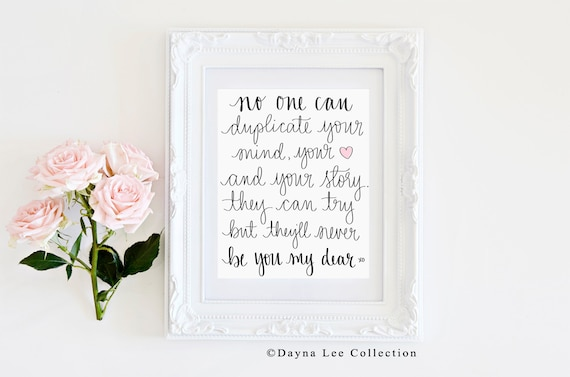 Copycats - 8 x 10 Digital Hand Lettered Quote Art Print
