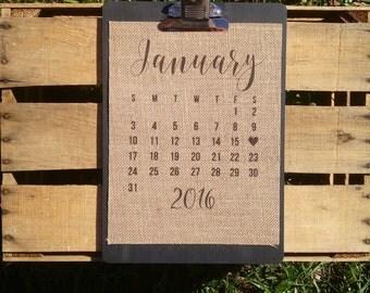 "8.5"" x 11"" Burlap Print // Important Date: Wedding, Birth, New Home"