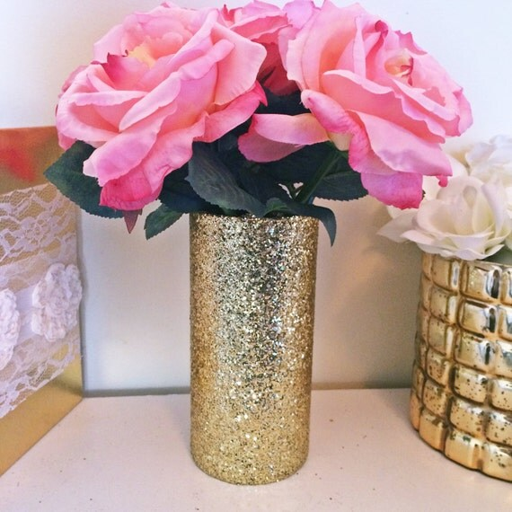 Gold vase glass vases bud bridal shower centerpiece