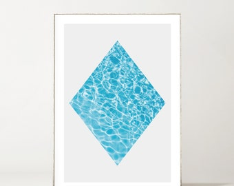 Minimalist Swimming Pool Diamond Print