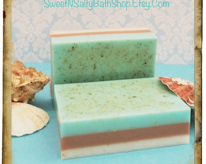 Seaside Cotton/Ocean Mist/ Beach Scented Shredded Loofah Exfoliating Coconut Milk Bar