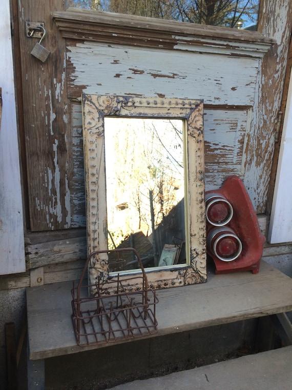 Vintage Chippy Paint Ceiling Tin Mirror Tin Ceiling Tile
