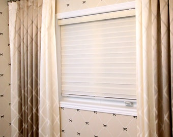 "Custom Drapes ""Diamond"" with borders, Inverted Pleat, geometric patterned drapes, Drapery Panels, Made-to-Order"