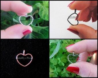 Colored aluminum heart pendant