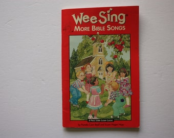 Wee Sing more Bible Songs, teacher's aid , teacher's book, children's bible songs, religious songs, bible music