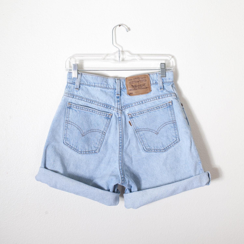 vintage levi 39 s shorts high waisted shorts faded denim. Black Bedroom Furniture Sets. Home Design Ideas