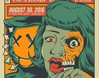 "Blink-182 ""Clarkston"" Screen Printed Gig Poster"