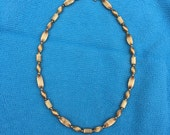 """Gold Necklace   Stunning 14kt Yellow Gold Beads Design Necklace   15-1/2"""" long"""