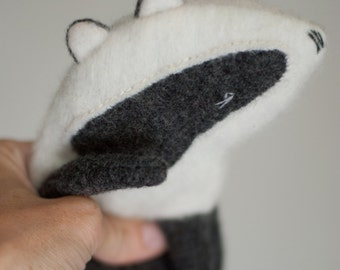 Handmade Plush Toy Badger, stuffed toy, stuffed animal, soft toy for children, children gift, room decoration toy, 28 cm