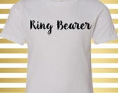 Ring Bearer T-Shirt - Script Ring Bearer Girl Shirt - Ring Bearer Shirt for Boys - Ring Bearer Shirt for Toddlers - Ringbearer Shirt