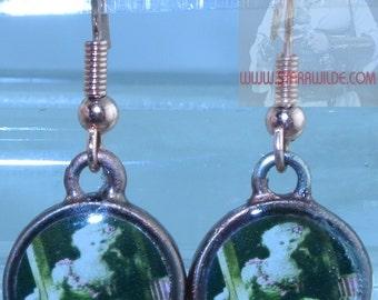 STARR WILDE STEAMPUNK Vintage Belle Epoque Star Arlette Dorgere White Wig Carriage Copper Pierced Earrings Set Available Victorian Edwardian