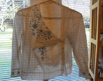 Handsewn Victorian Blouse, Antique Clothing