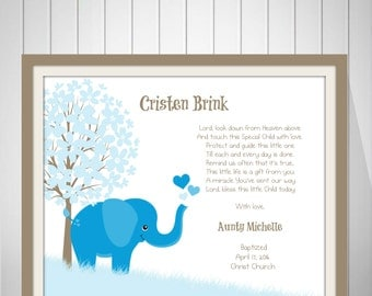 Baby Boy Christening Gift Baptism Gift Naming Day Gift Baby Boy Nursery Art Baby Dedication Gift Girl Christening Gift from Godmother- 50277