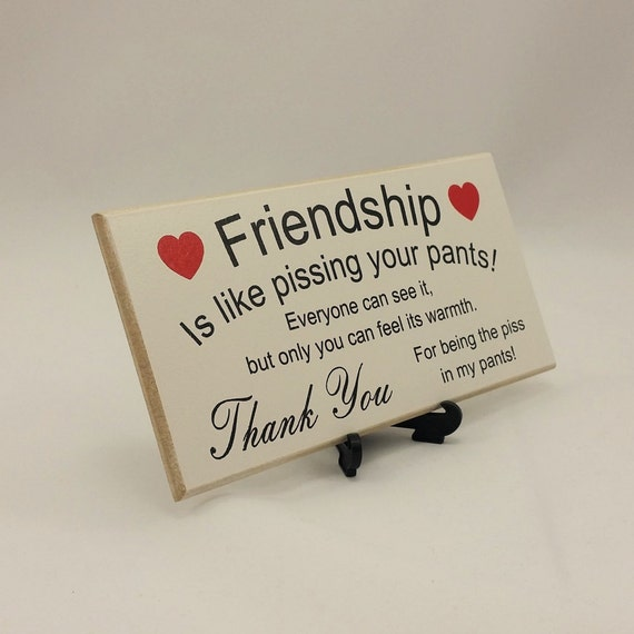 Best Friend Gift Funny Sign Birthday Present Friendship Gift