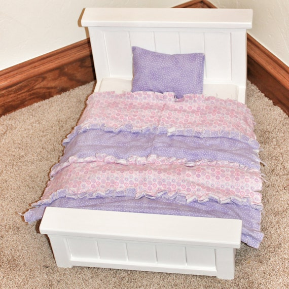 Custom Made Wood Doll Bed For 18 Inch Doll Doll Furniture
