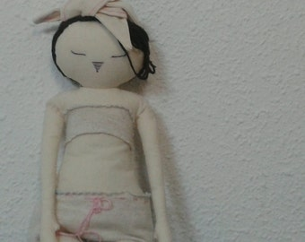 Handmade Bunny Doll MADE TO ORDER