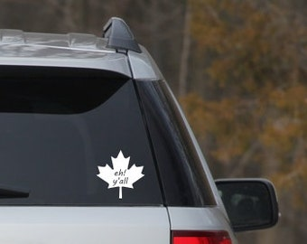 Canadian Eh Car Decal Maple Leaf Car Sticker Car Vinyl - Custom vinyl car decals canada