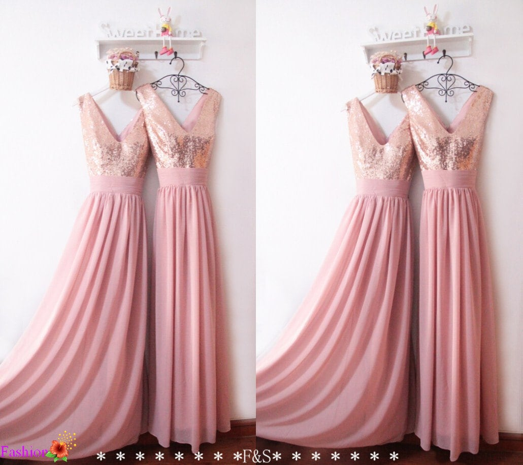 Bridesmaid Dress 2016Sexy Sequin Prom DressCustom Bridesmaid