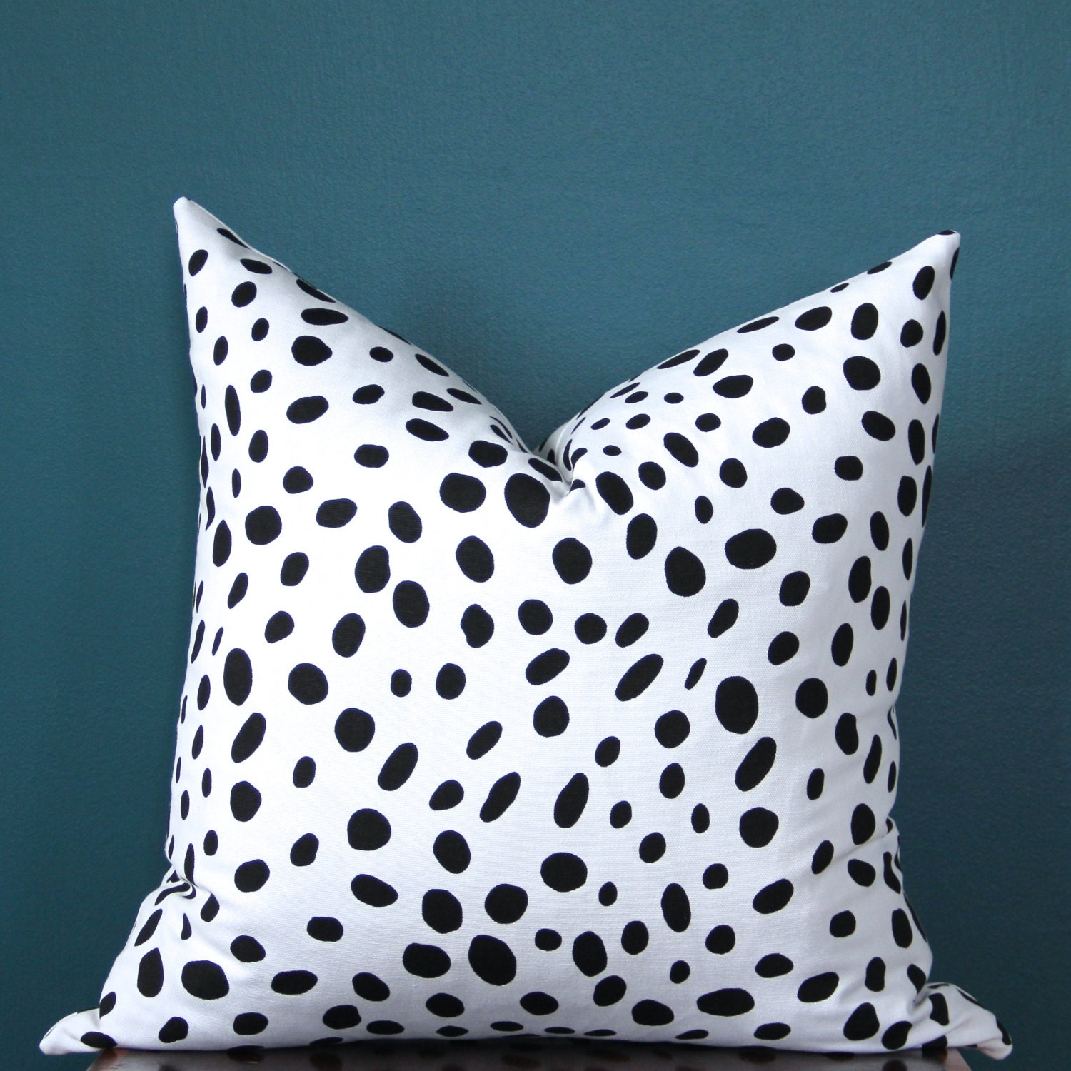 Trend Alert Dalmatian Print Home Decor: Spotted Pillow Cover Black And White Pillow Cover