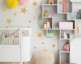76 Vinyl Star Decals - Nursery or Children's Room Wall Sticker