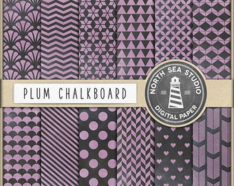 BUY 5 GET 3 FREE, Chalkboard Paper, Digital Chalk Backgrounds, Chalkboard Patterns, Digital Paper, Crafts, Scrapbooking, Cardmaking