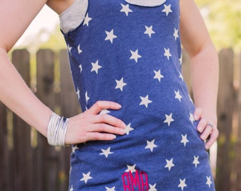 Monogram Tank Top | 4th of July Shirt Womens | 4th of July Tank Top | Fourth of July Tank | Fourth of July Shirt | 4th of July Monogram