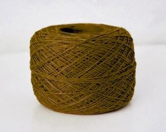 Khaki Brown 3-ply 100 % Natural Linen Yarn 50 g Ball