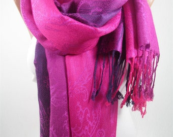 Pashmina Scarf Infinity Scarf Hot Pink Purple Scarf Shawl Women Fashion Accessories Winter Scarf Valentines Gifts for Her Girlfriend Gifts