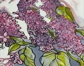 Lilacs, Botanical Illustration, Original Ink Drawing
