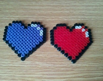 Multi-use Cute Hearts made with perler