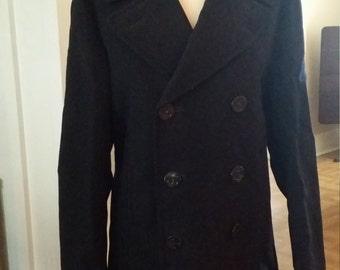Vintage Military Navy Pea Coat