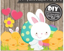 EASTER PARTY PRINTABLES - Instant Download pdf - diy Craft Projects, Clipart, Party Decorations, Scrapbooking and Holiday Activities