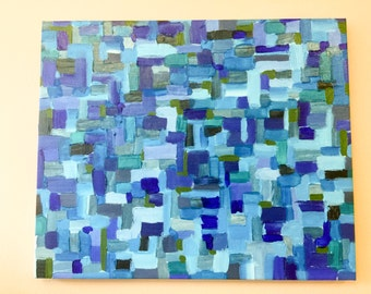 Sea, original abstract oil painting by Tim Pipp