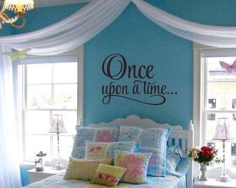 Once Upon A Time Wall Decal - Princess Wall Decal - Princess Nursery Wall Decal
