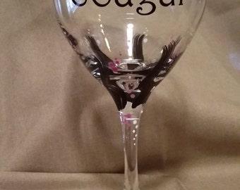 30th Birthday Cougar Glass
