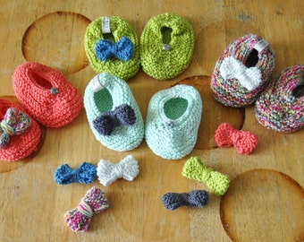 Coton Ballerinas from 0 to 3 Months // Interchangeable Bows ! / Giftborn