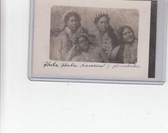 "RPPC Of 4 Hawaiian Young Women ""Hula Hula Dancers Of Honolulu"" 1900-10 Postcard TH Unused"