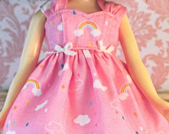 Pink Cloud Dress and White Petticoat Set for Neo Blythe Doll