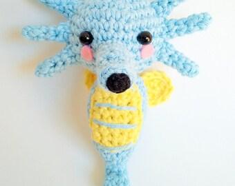 Handmade crocheted amigurumi Horsea Pokemon - MADE TO ORDER -