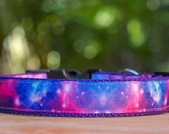 Purple Galaxy Dog Collar  / Dog Collars Australia