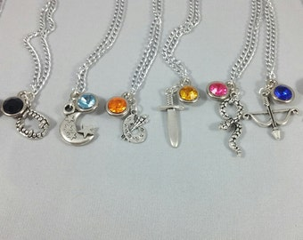 Shadowhunters Inspired Mini Jewel and Charm Character Necklaces - Many Options - Jace, Izzy, Clary, Alec, Magnus, Luke, Raphael, and Simon