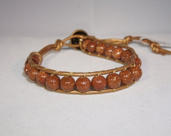 Beaded Wrap Bracelet -Single Wrap