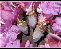 Spirit Quartz necklace, Spirit Quartz jewelry, Fairy Quartz, Cactus Quartz, Quarts var Amethyst, Chakra, chakra necklace