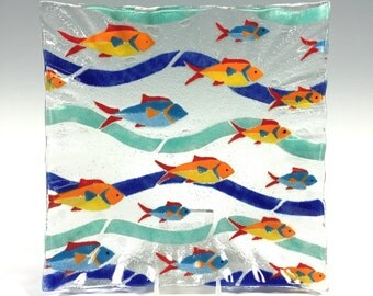 Fused Glass Fish Dish