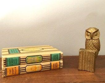 Owl Decor Brass Statue Figurine Mid Century